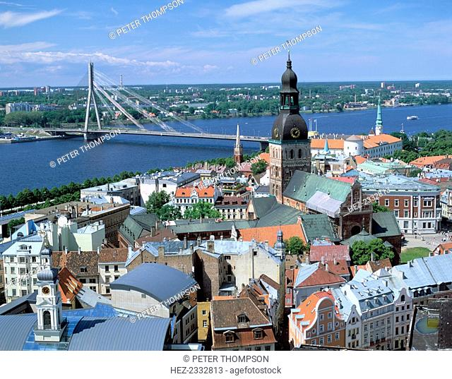 The view from St Peter's spire, Riga, Latvia