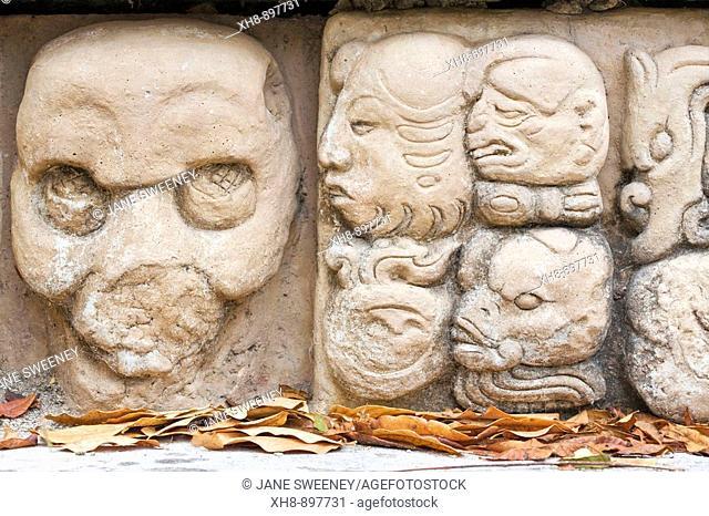 Los Jaguares court, East Court, Mayan ruins of Copan, Copan Ruinas, Honduras