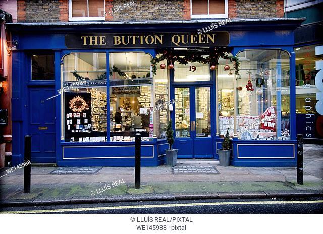 The Button Queen Button shop, London, England