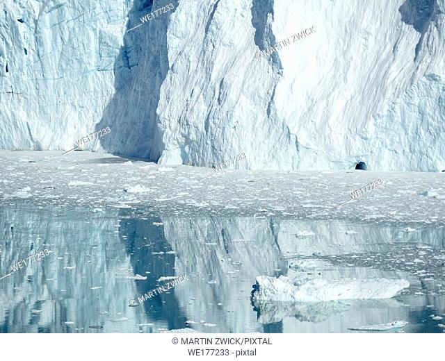 Eqip Glacier (Eqip Sermia or Eqi Glacier) in Greenland. , Polar Regions, Denmark, August