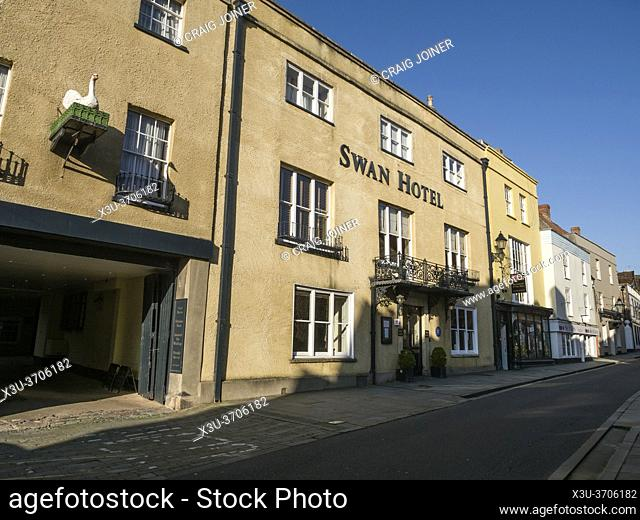The Swan Hotel in Sadler Street in the city of Wells, Somerset, England