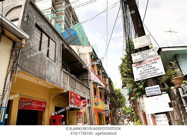 Room for rent posters in a side-street  Cebu City, Cebu, Visayas, Philippines