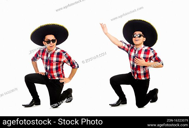 The funny mexican with sombrero in concept
