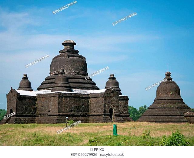 Lay Myet Hna, a pagoda in Mrauk U, the Rakhine State of Myanmar