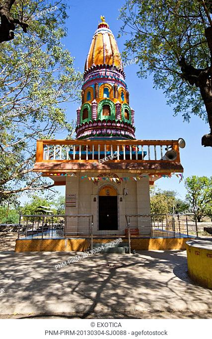 Facade of a temple, Narsi Namdev, Hingoli, Maharashtra, India