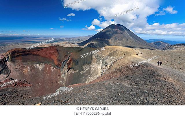View over volcano
