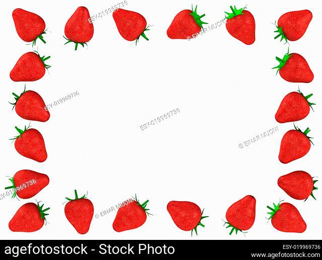Strawberry photo frame
