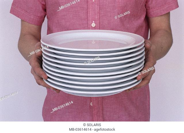 Man, plate stack