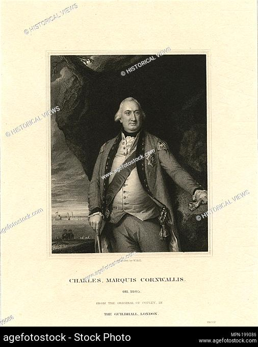 Charles, Marquis Cornwallis. Emmet Collection of Manuscripts Etc. Relating to American History. The generals of the American Revolution