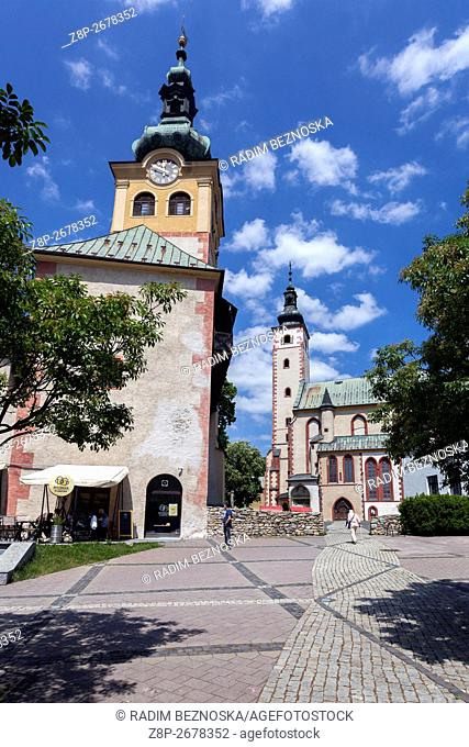 Barbican and Church of the Assumption, Banska Bystrica, Slovakia, Europa
