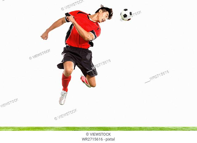 Football player is playing football