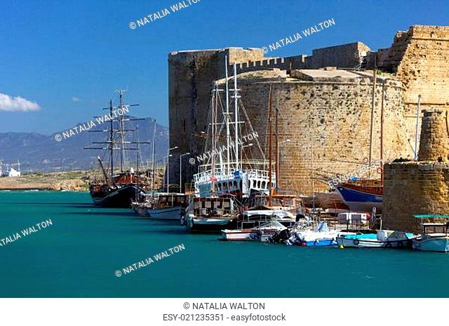 Harbour and medieval castle in Kyrenia, North Cyprus