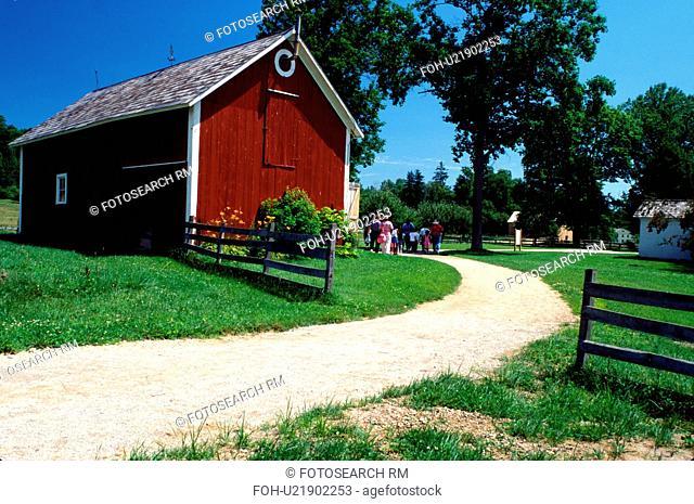 living history museum, Ohio, Bath, OH, Blacksmith Shop at the Hale Farm and Village