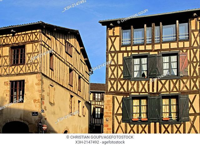 Porte Panet street, Limoges, Haute-Vienne department, Limousin region, France, Europe