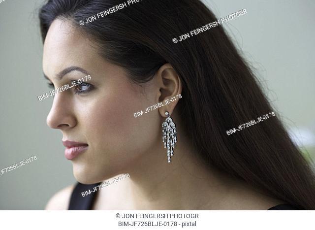 Profile portrait of woman