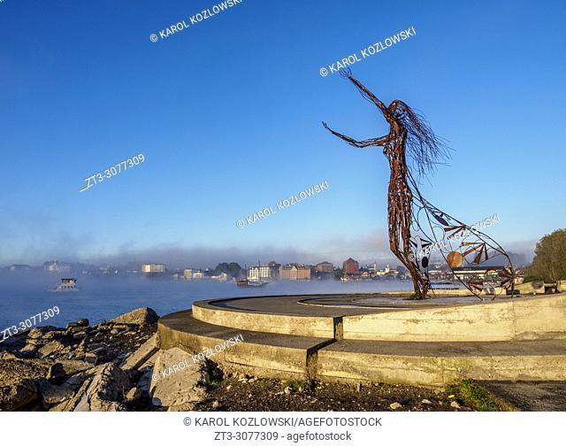 Princess Licarayen Sculpture, Puerto Varas, Llanquihue Province, Los Lagos Region, Chile