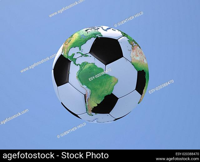 Soccerball with Globe: South and North America