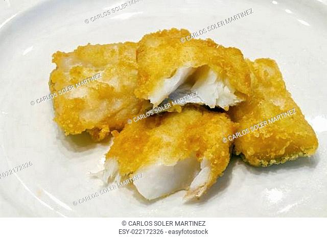 Fried salted codfish ready for a meal