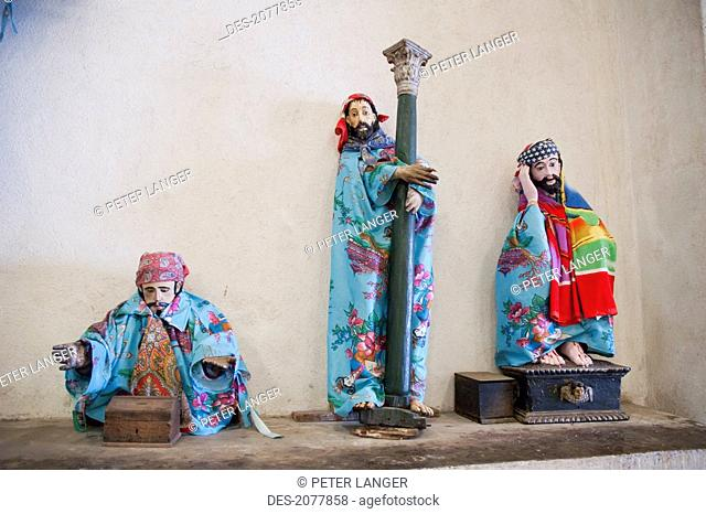 The Dressed Statues Of The Saints In The Santiago Ap