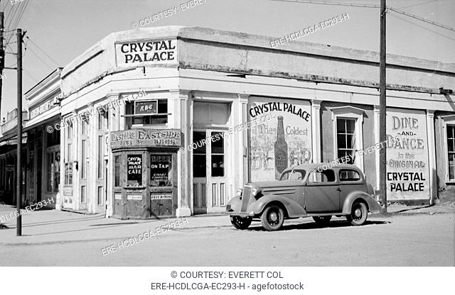 Crystal Palace Saloon, constructed in 1878, Allen & Fifth Streets, Tombstone, Cochise County, Arizona, circa 1930s