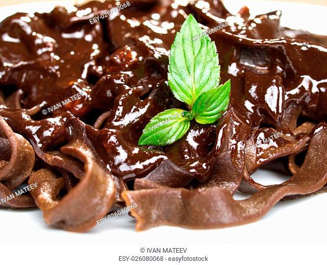 Chocolate tagliatelle