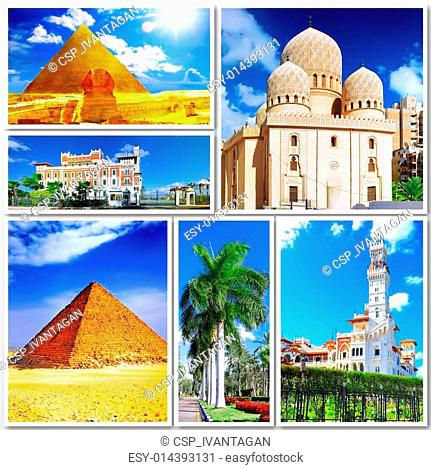 Collage of beautiful Egypt . Africa