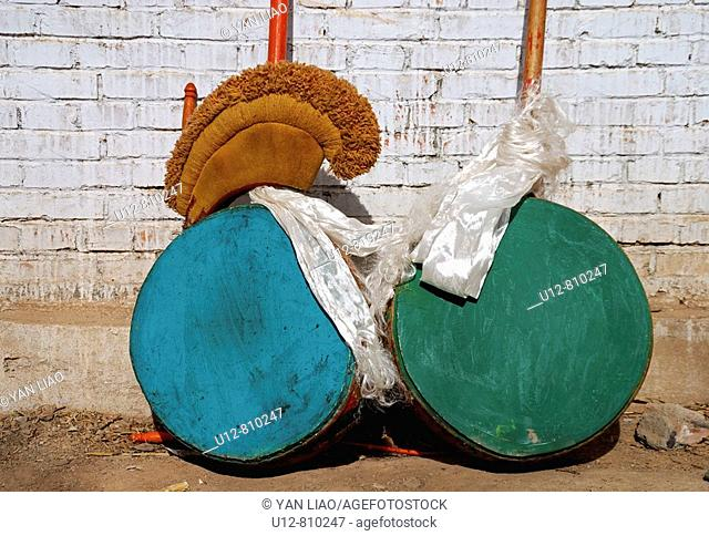 buddhist drums, hat and Hada