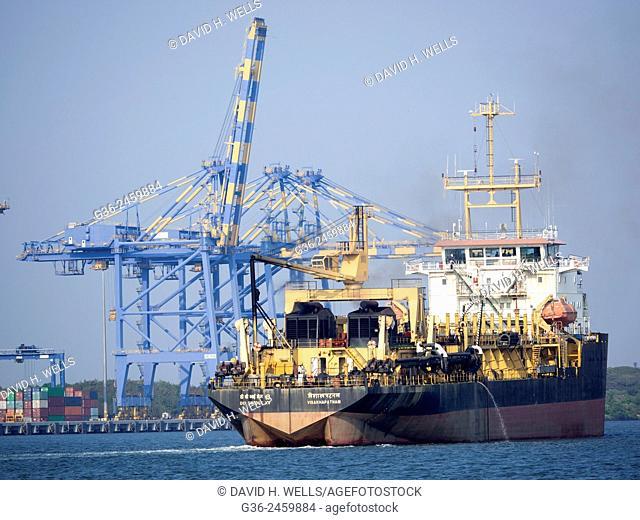 Industrial ship at Cochin, Kerala, India