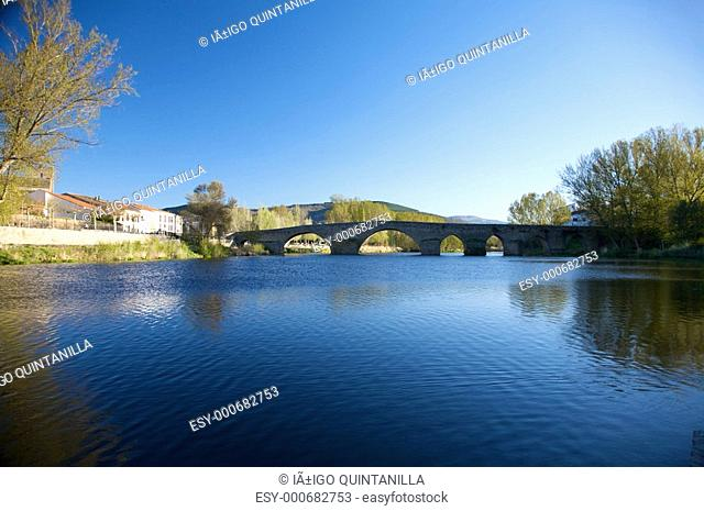 ancient bridge at barco avila