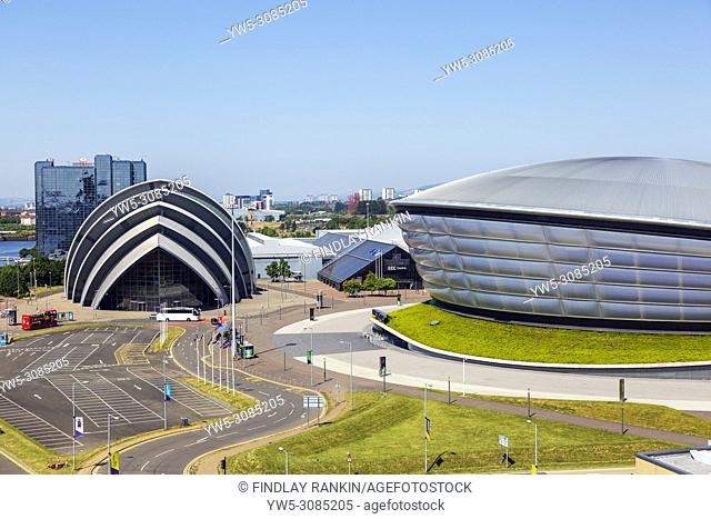 The Scottish Exhibition and Conference CEntre, SECC, known as the Armadillo and the Hydro concert venue, Anderston, Glasgow, Scotland