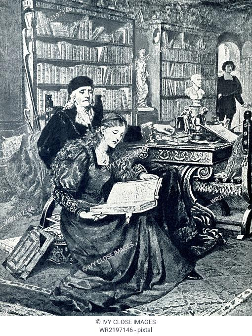 English novelist George Eliot (pen name for Mary Anne Evans - 1819-1880) wrote the novel Romola in 1862-63, which is set in 15th-century (Renaissance) Florence