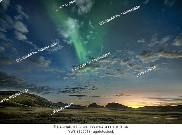 Aurora Borealis, Mt. Hekla, Iceland