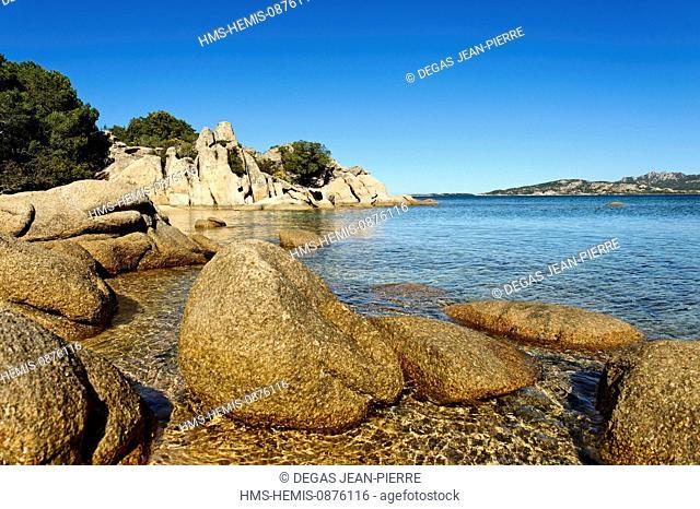 Italy, Sardinia, Olbia Tempio Province, the Emerald Coast (Costa Smeralda), Gulf of Arzachena, Tanca Manna, Mannena range