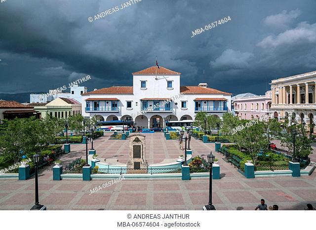 Parque Cespedes with town hall, Santiago de Cuba