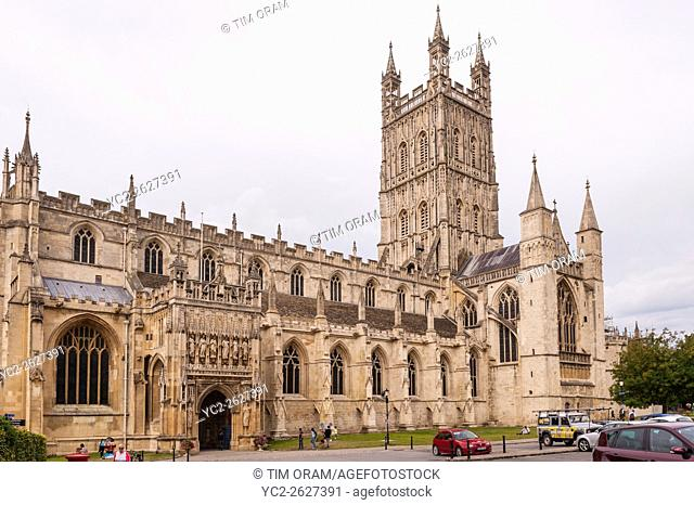 The Cathedral at Gloucester , Gloucestershire , England , Britain , Uk