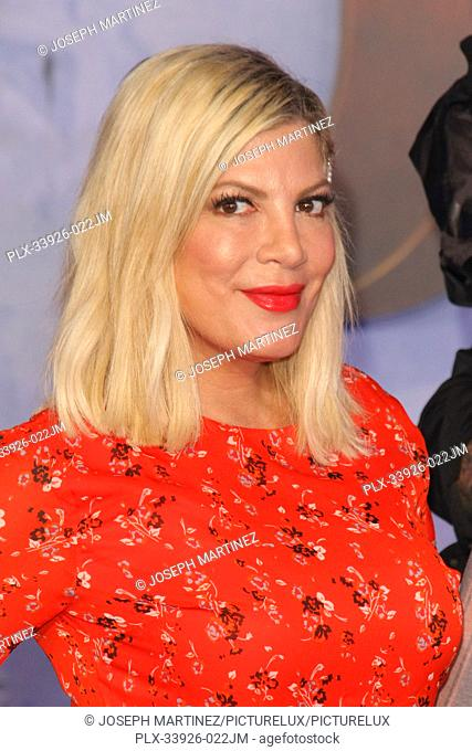 """Tori Spelling at Sony Pictures' """"""""Jumanji: The Next Level"""""""" World Premiere held at the TCL Chinese Theater in Hollywood, CA, December 9, 2019"""