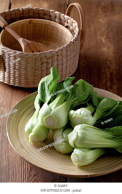 Bok Choy And Wooden Utensil