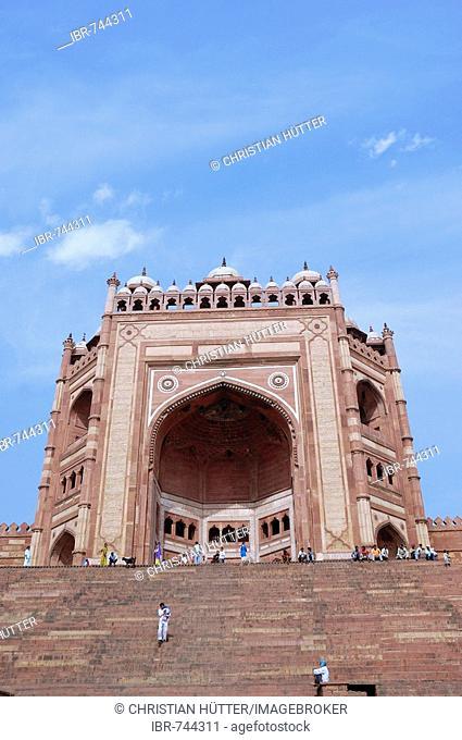 Buland Darwaza, Victory Gate, Masjid-i-Jahan Numa or Jami Masjid Mosque, Fatehpur Sikri, Uttar Pradesh, India