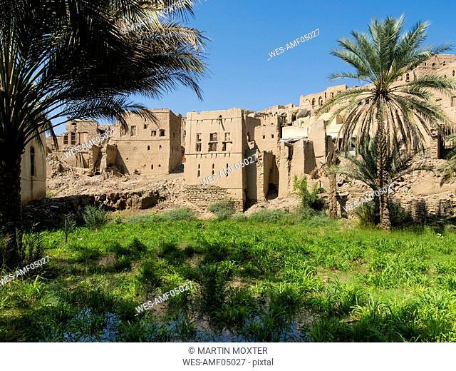 Oman, Birkat Al-Mawz, view to the village