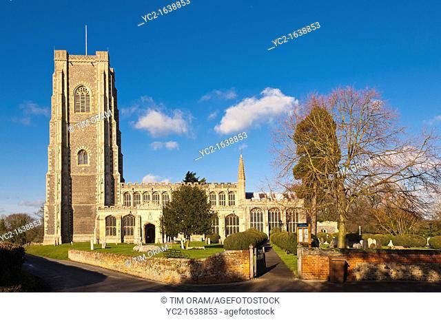 The parish church of St  Peter and St  Paul in Lavenham , Suffolk, England , Britain , Uk