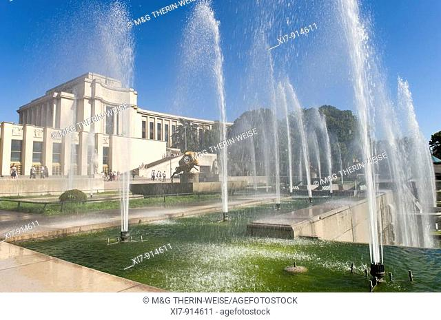 Fountains of the Trocadero Gardens, Paris, France