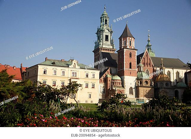 Wawel Hill National Sanctuary. Wawel Cathedral located in Wawel Castle. Spiritual centre of the Polish state and burial place of Polish kings and national...