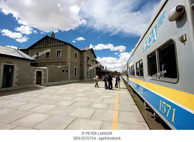 Expreso Del Sur At The Train Station, Oruro, Bolivia