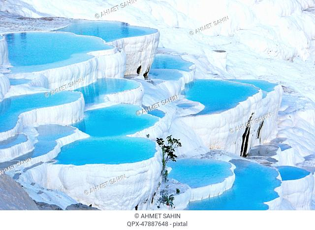 Travertine terraces, Pamukkale, Turkey