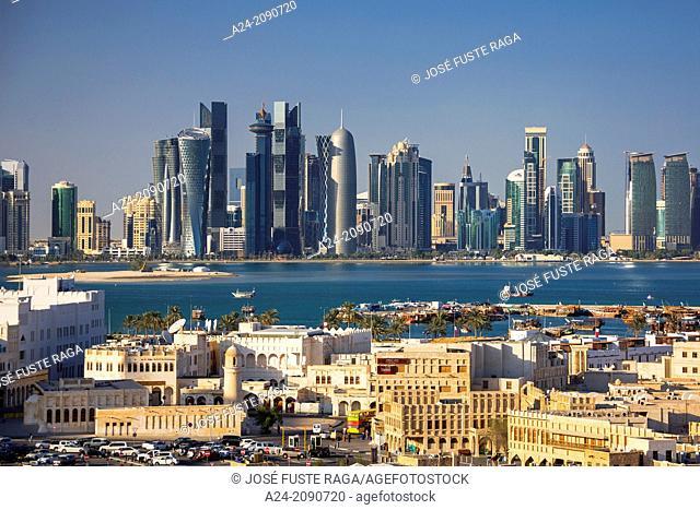 Qatar , Doha City, Old and New Doha