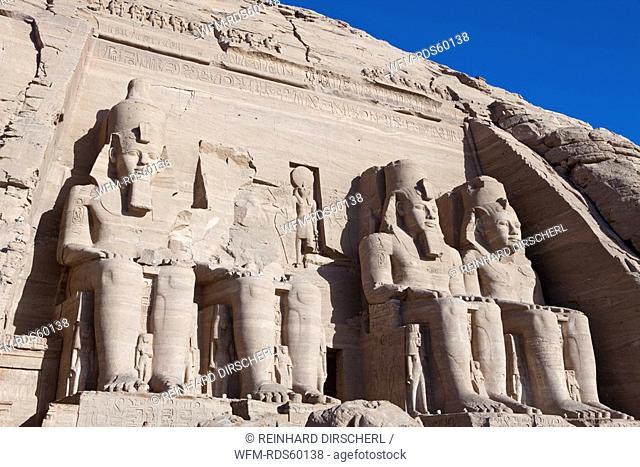 Great Temple of Pharaoh Ramesses II, Abu Simbel, Egypt