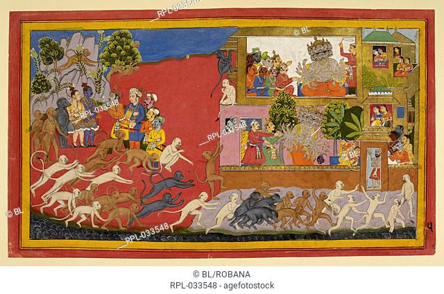 Spies and strategems, Ravana now sends out new spies, who are caught by Vibhisana and brought to Rama, who sends them back to Lanka to report to Ravana