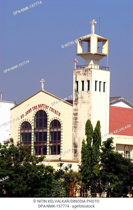 Saint John Baptist church at bank of Masunda lake or Talao Pali ; Thane ; Maharashtra ; India