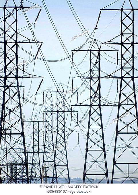Power lines, Downey, California