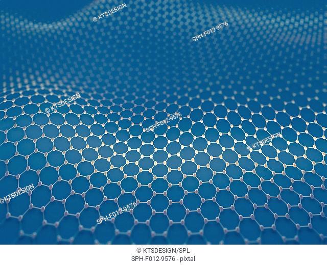 Graphene sheet, illustration